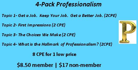 4-Pack Professionalism Image